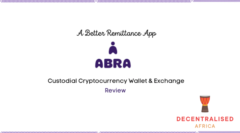 Abra non-custodial crypto wallet and exchange
